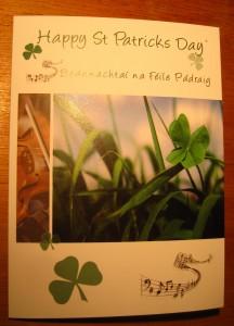 St Pat card