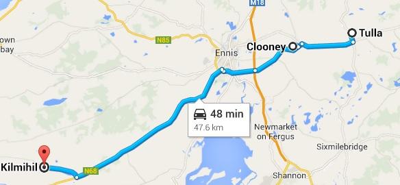 Tulla to Kilmihil, via Clooney